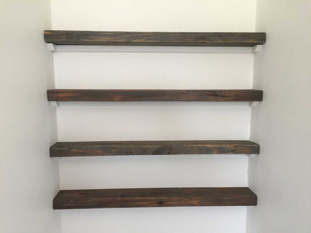 My Reclaimed Shelves in Place
