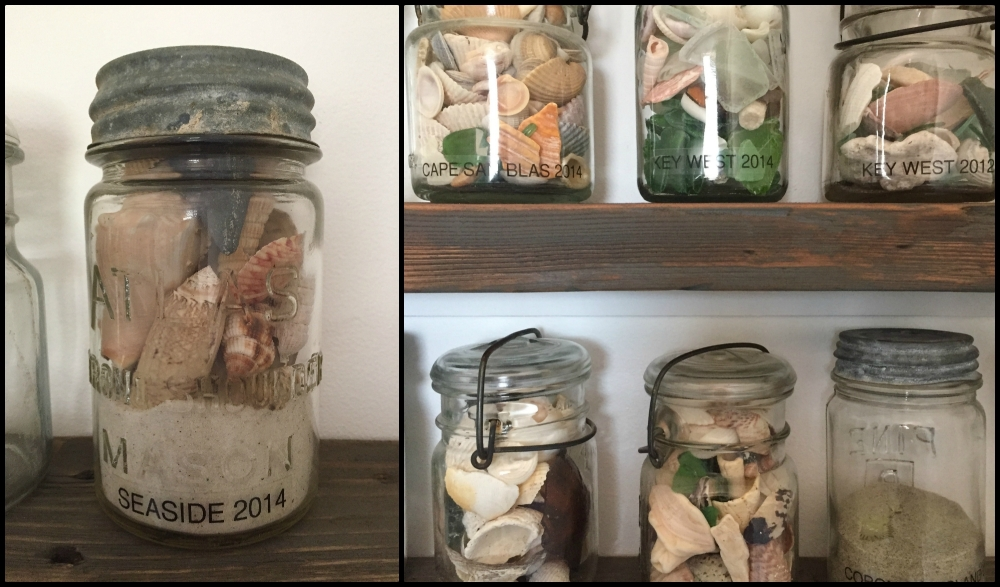 Sea Shell Jars-collage