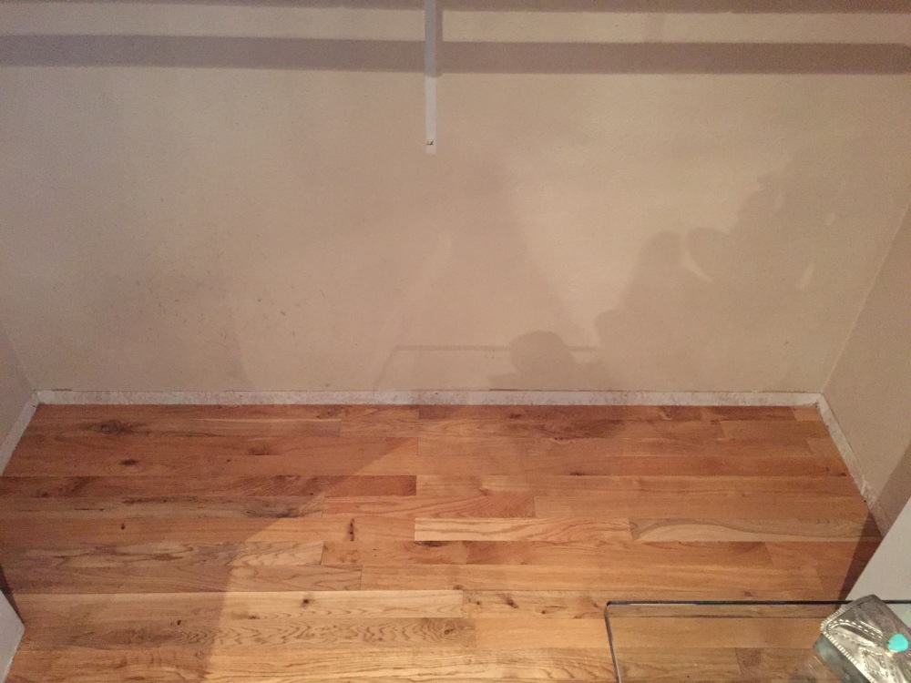 The Replaced Wood Floor in the Master Closet