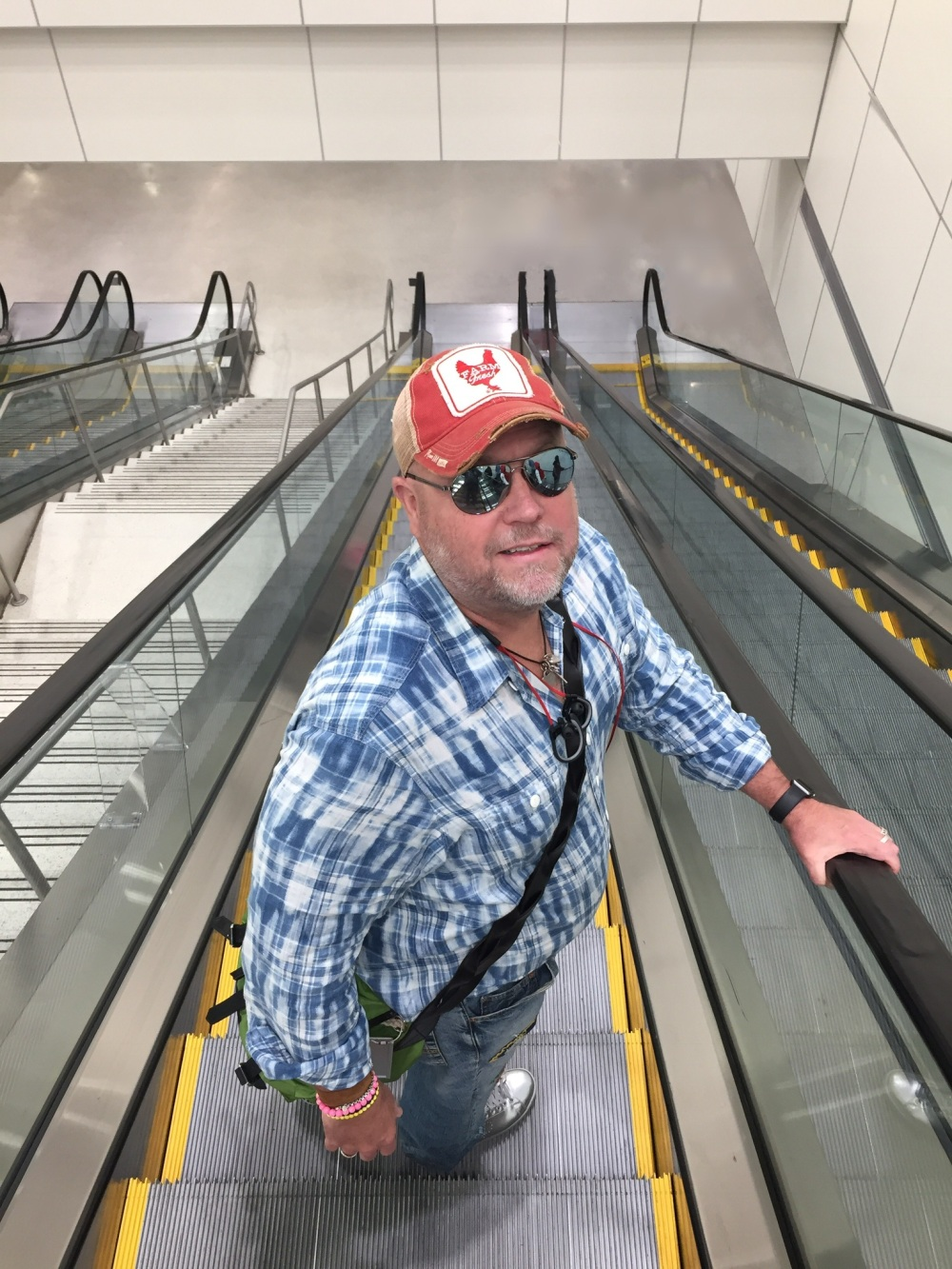 Jamie on Miami Escalator
