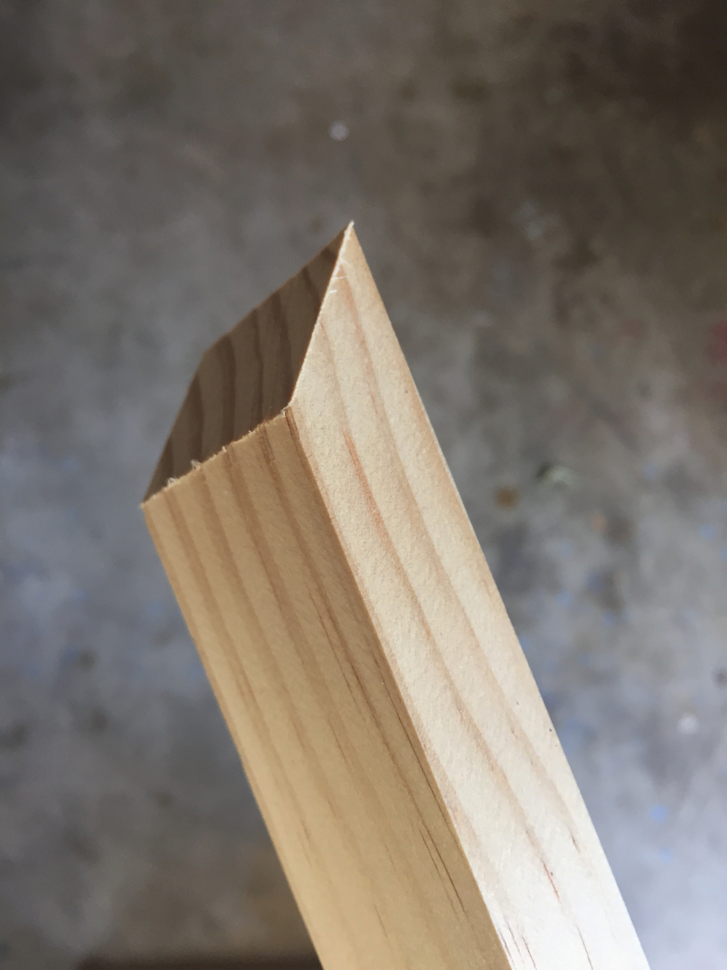 45 Degree Angle on all the Trim Pieces