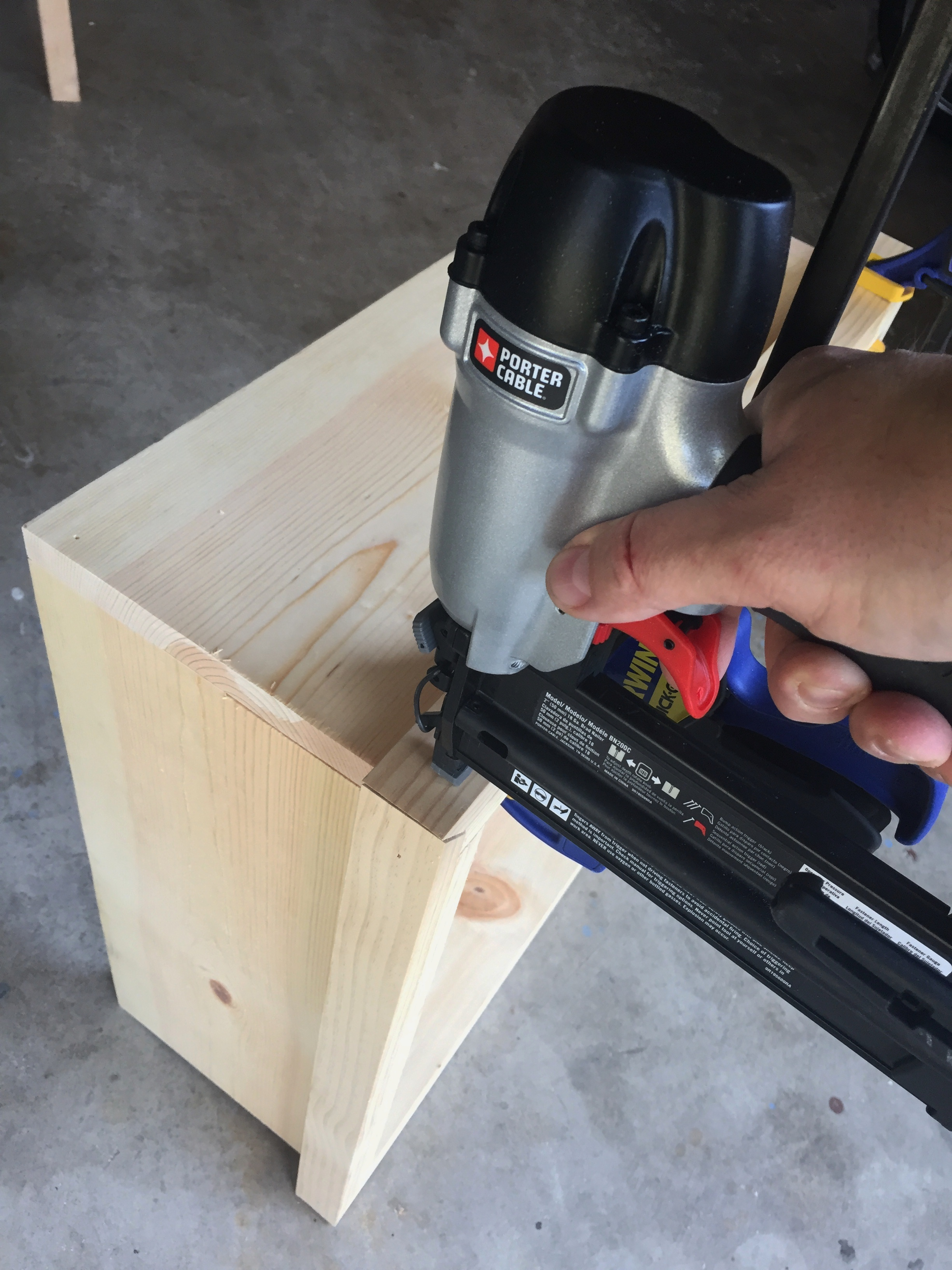 Use a Brad NAiler to Connect the Trim to the Box