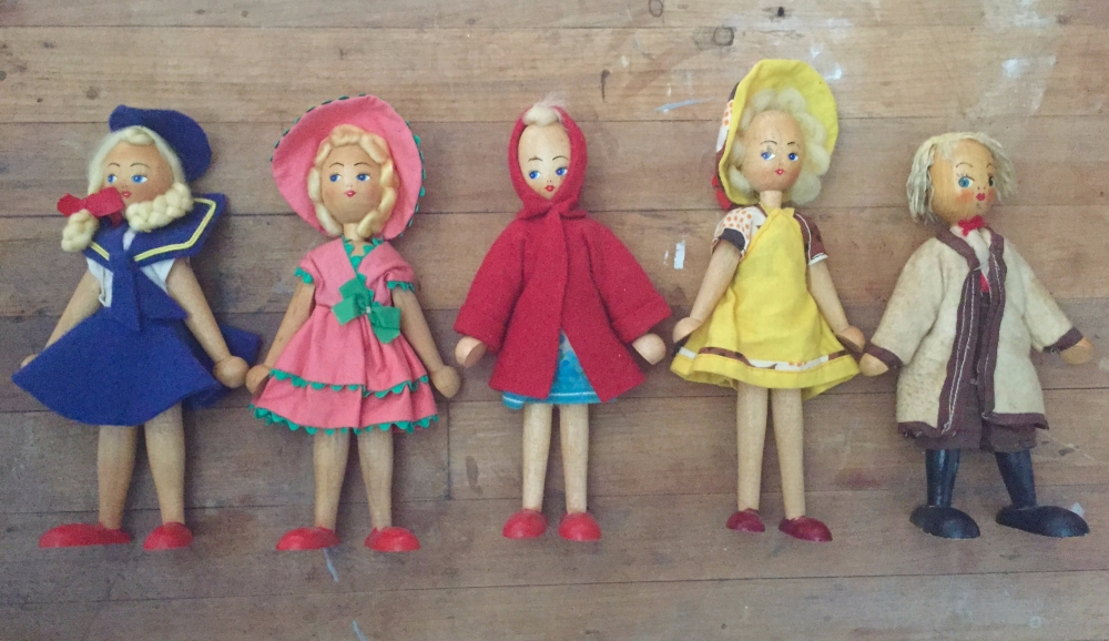 Old Wooden Polish Dolls