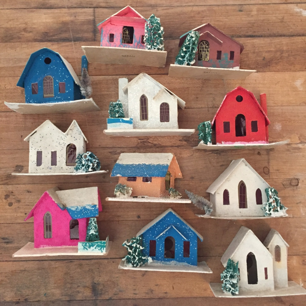 Small Vintage Putz Houses