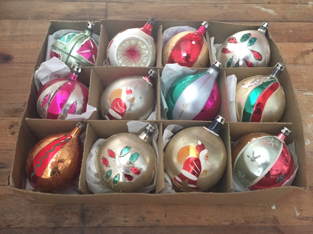 Vintage Polish Glass Ornaments