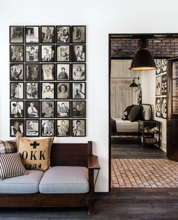 Black and White Portraits gridded in the House that Pinterest Built
