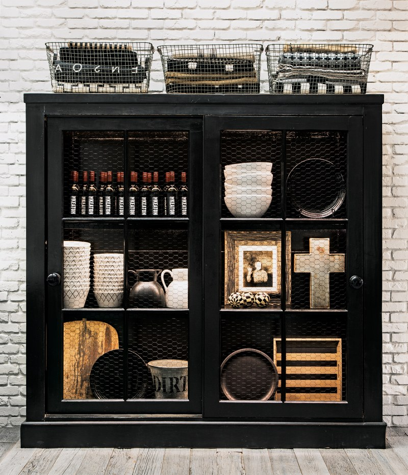 Cabinet of Goodies in the House That Pinterest Built