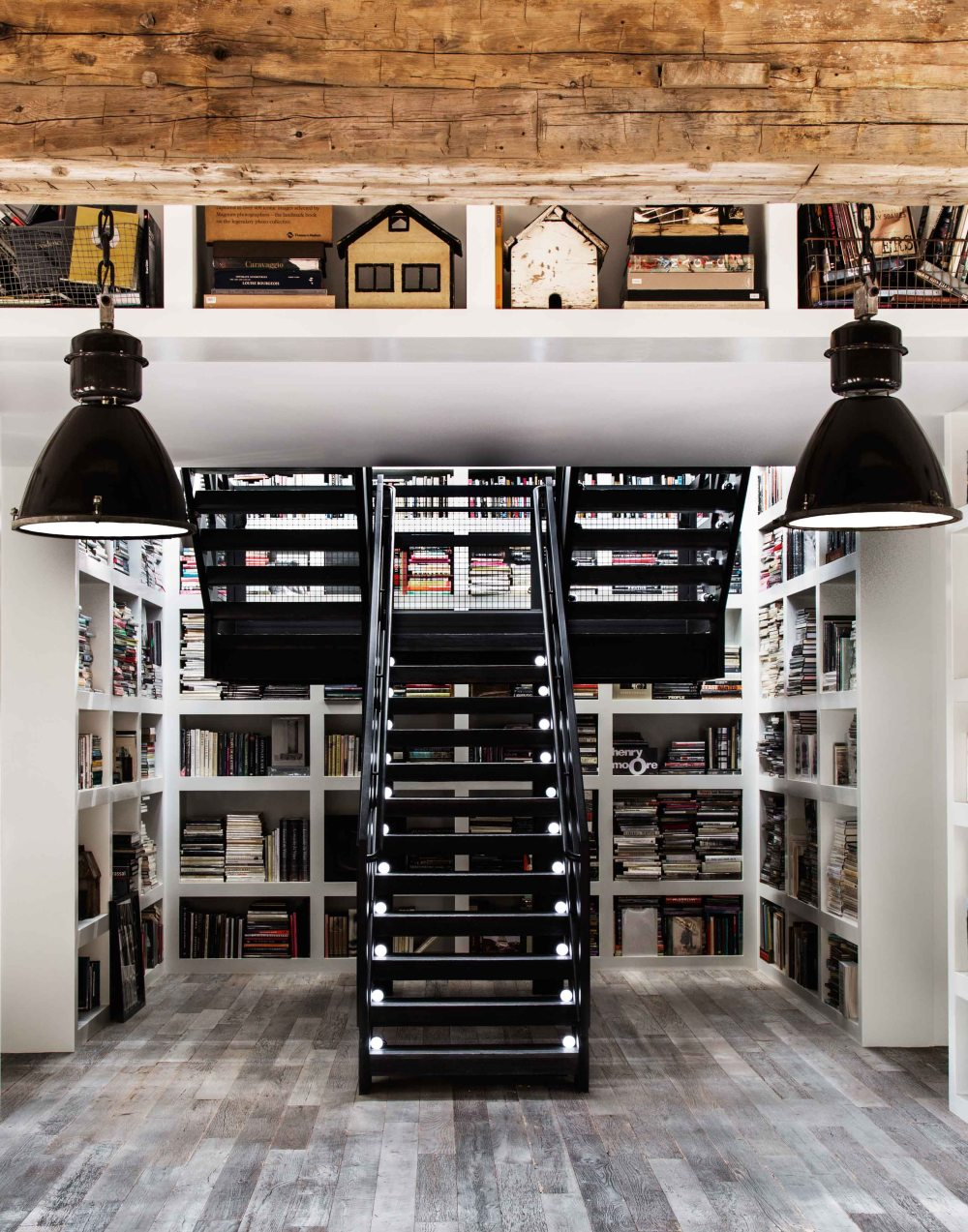 Library in the House That Pinterest Built