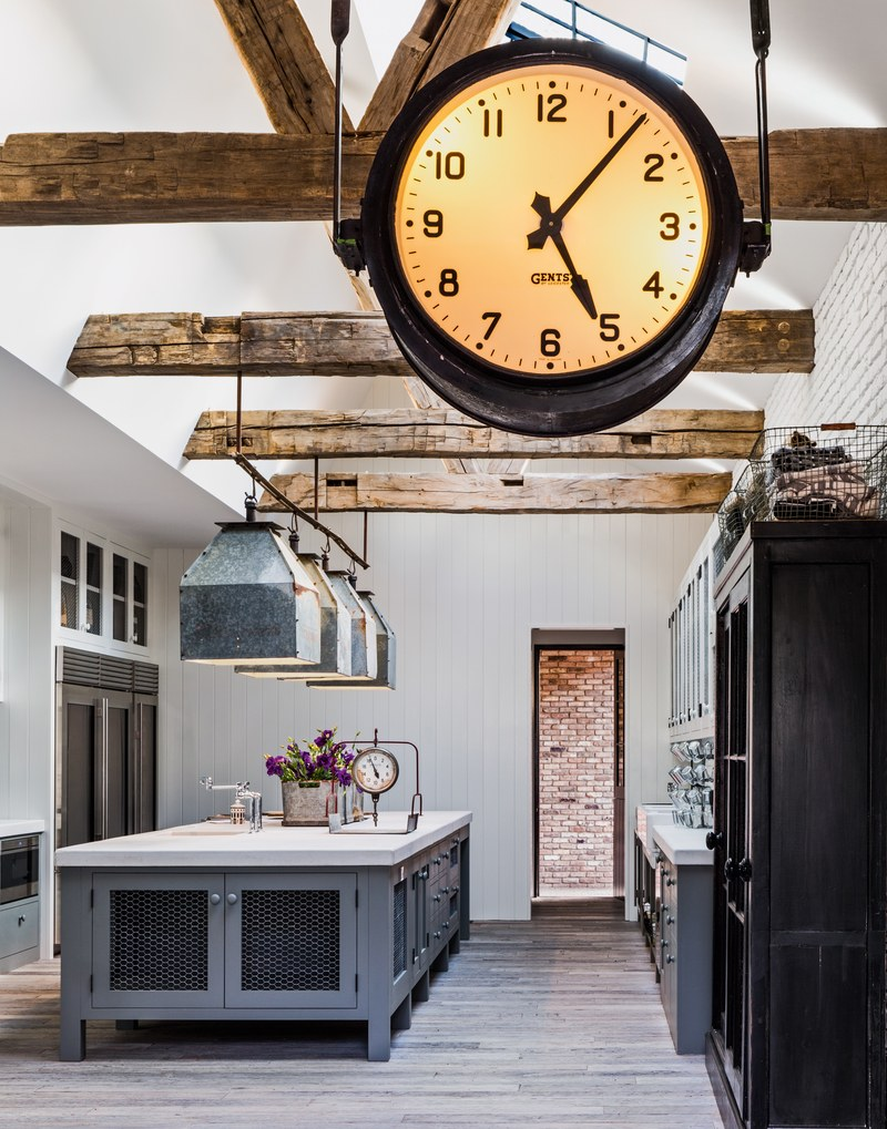Vintage Factory Clock in the House that Pinterest Built