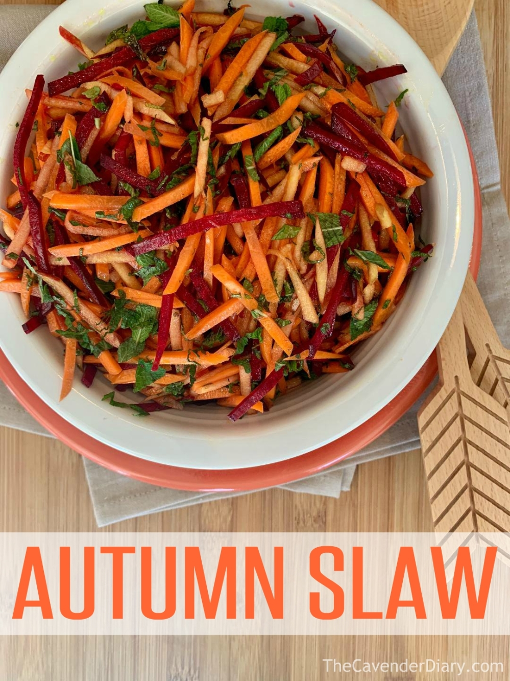 Autumn Coleslaw from the Cavender Diary Boys
