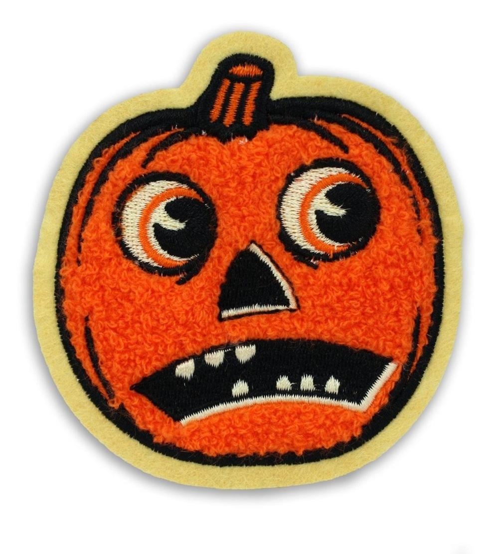 Beistle Scaredy Jack-O-Lantern Chenille Patch