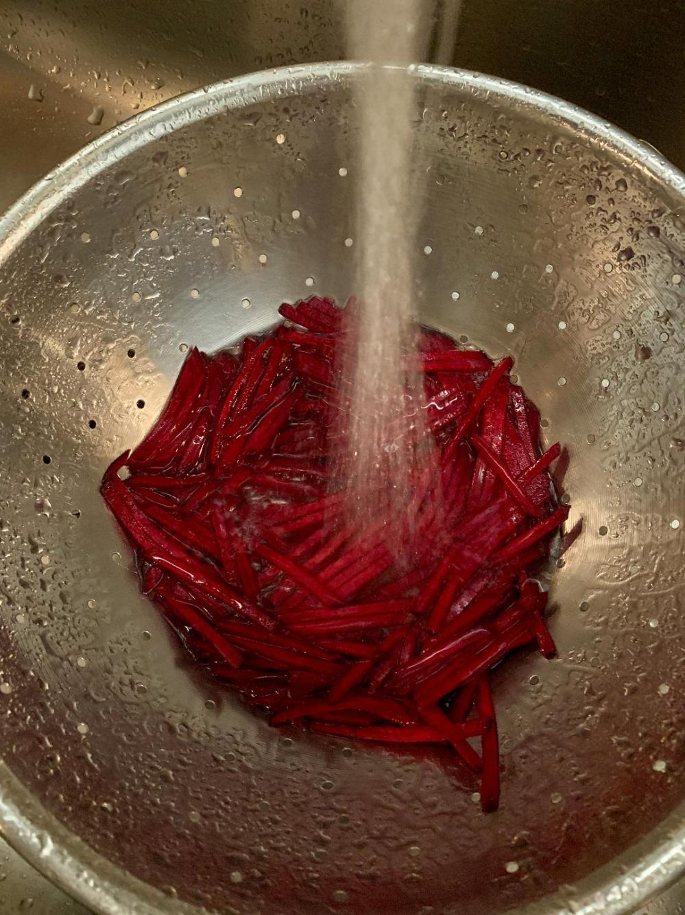 Rinse the Beets Throughly