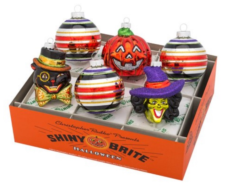 Shiny Brite Halloween Ornament Set