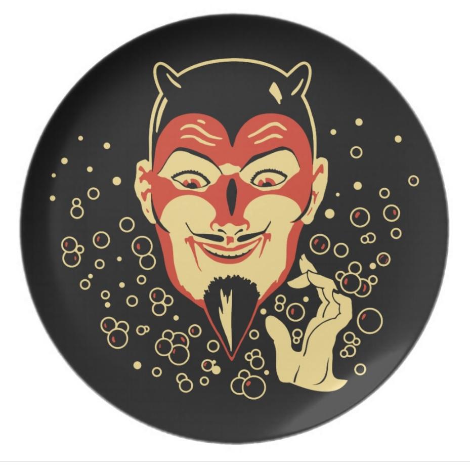Vintage Halloween Devil Plate