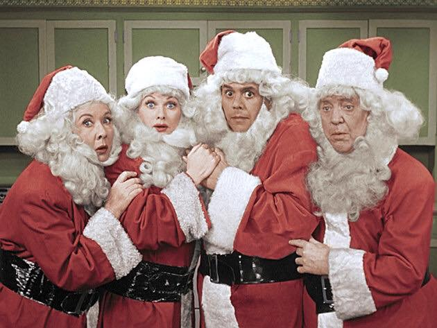 Ethel Lucy Ricky and Fred as Santas