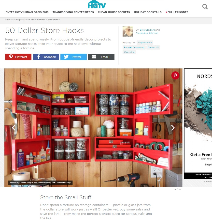 HGTV.com Dollar Store Hacks
