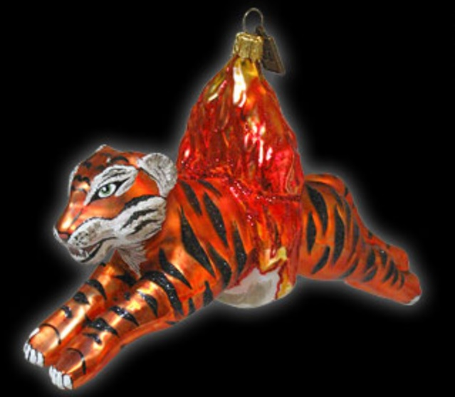 Eric Cortina Tiger Glass Ornament
