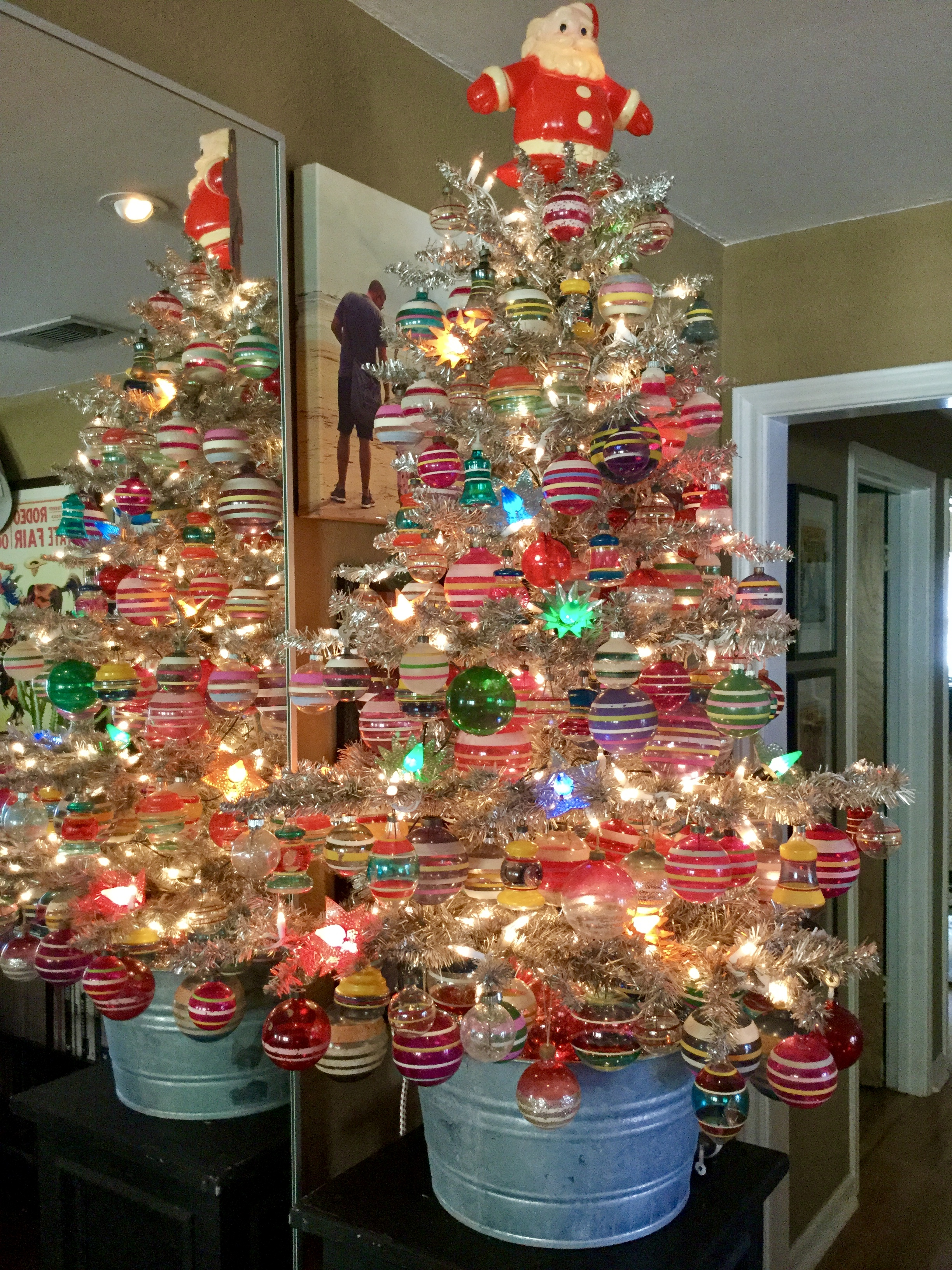 My 1940's Unsilvered Ornament Tree