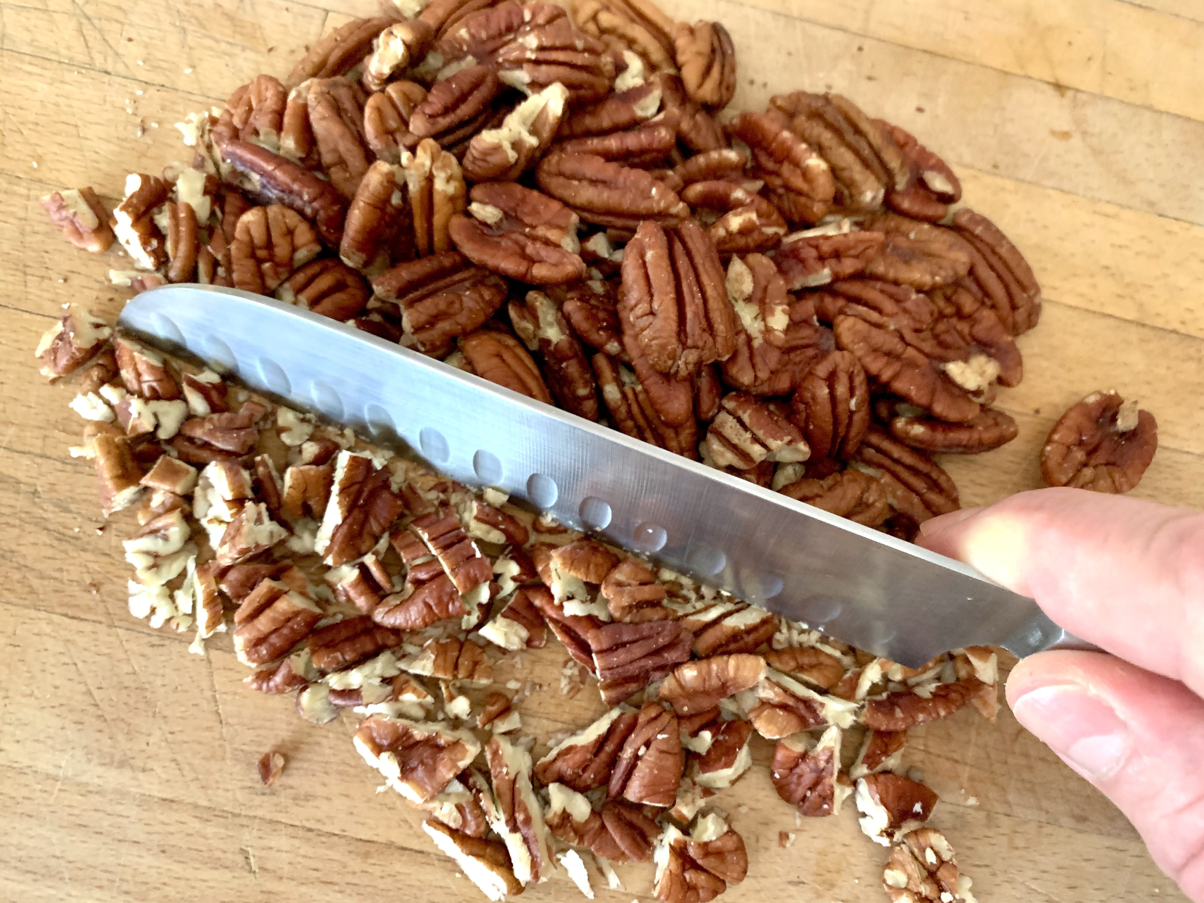 Roughly Chop the Pecans