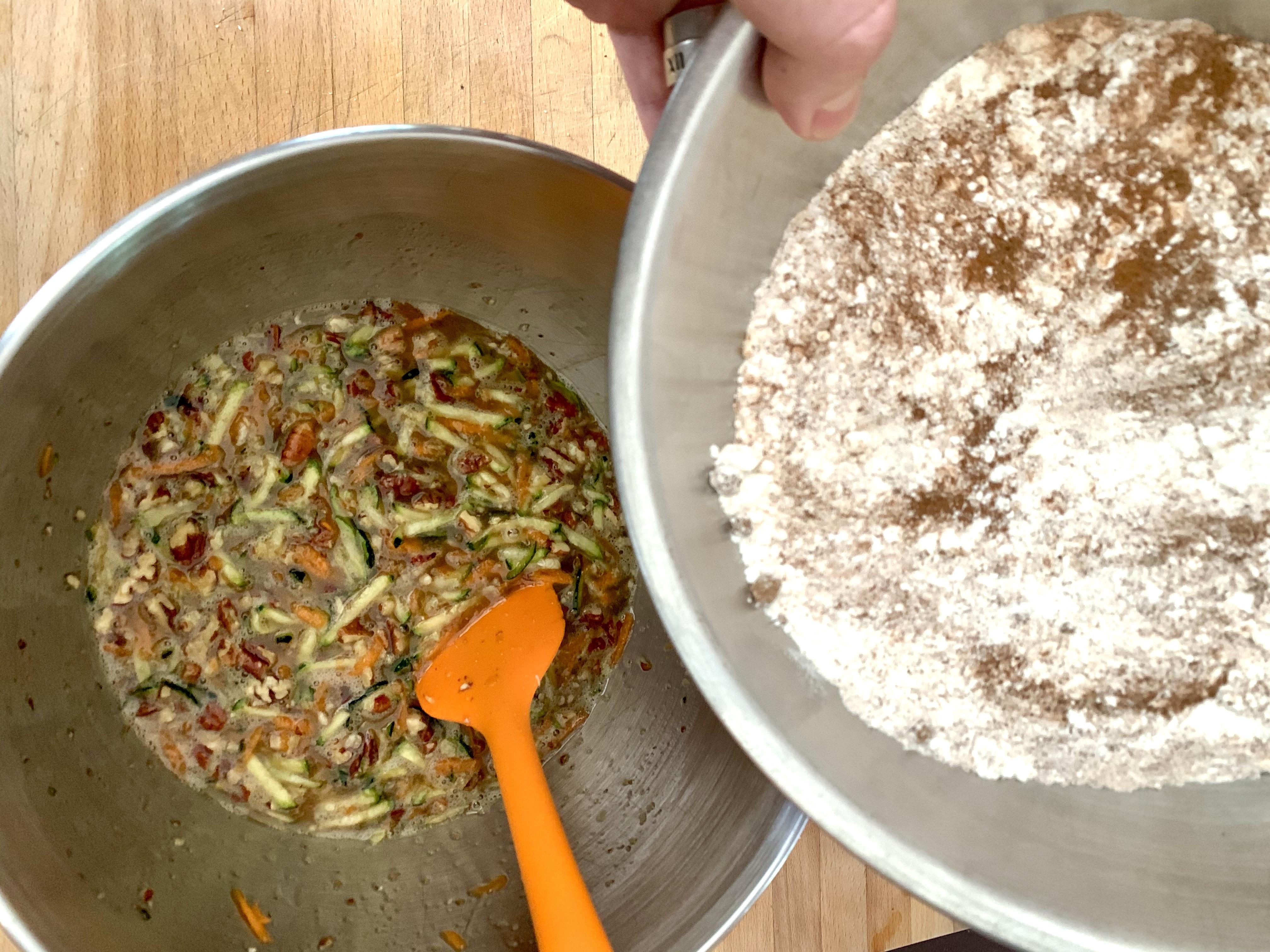 Slowly Stir In the Dry Ingredients