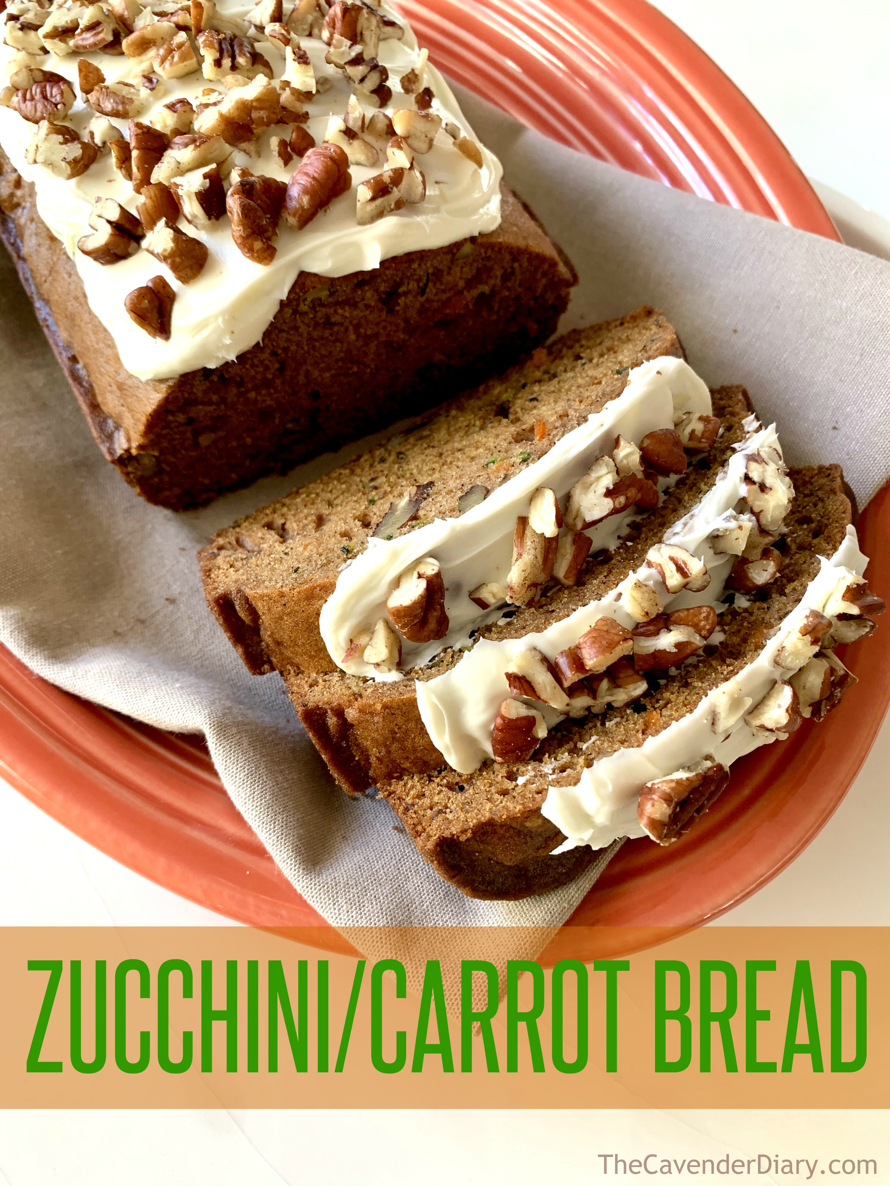 Zucchini Carrot Bread from the Cavender Diary Boys