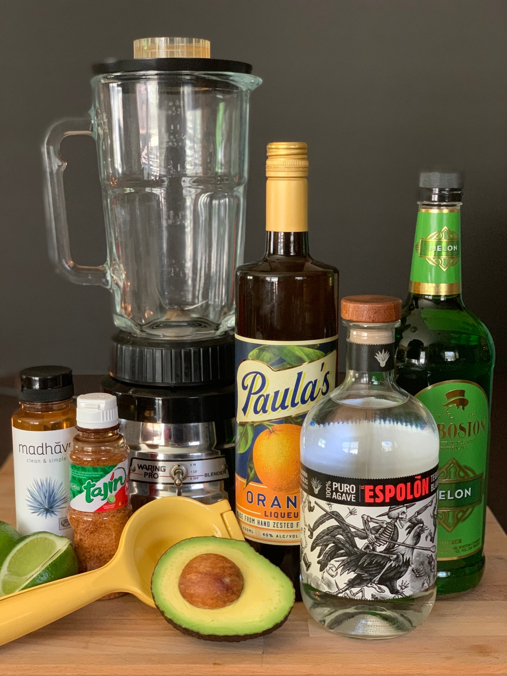 All the Ingredients for Avocado Margaritas
