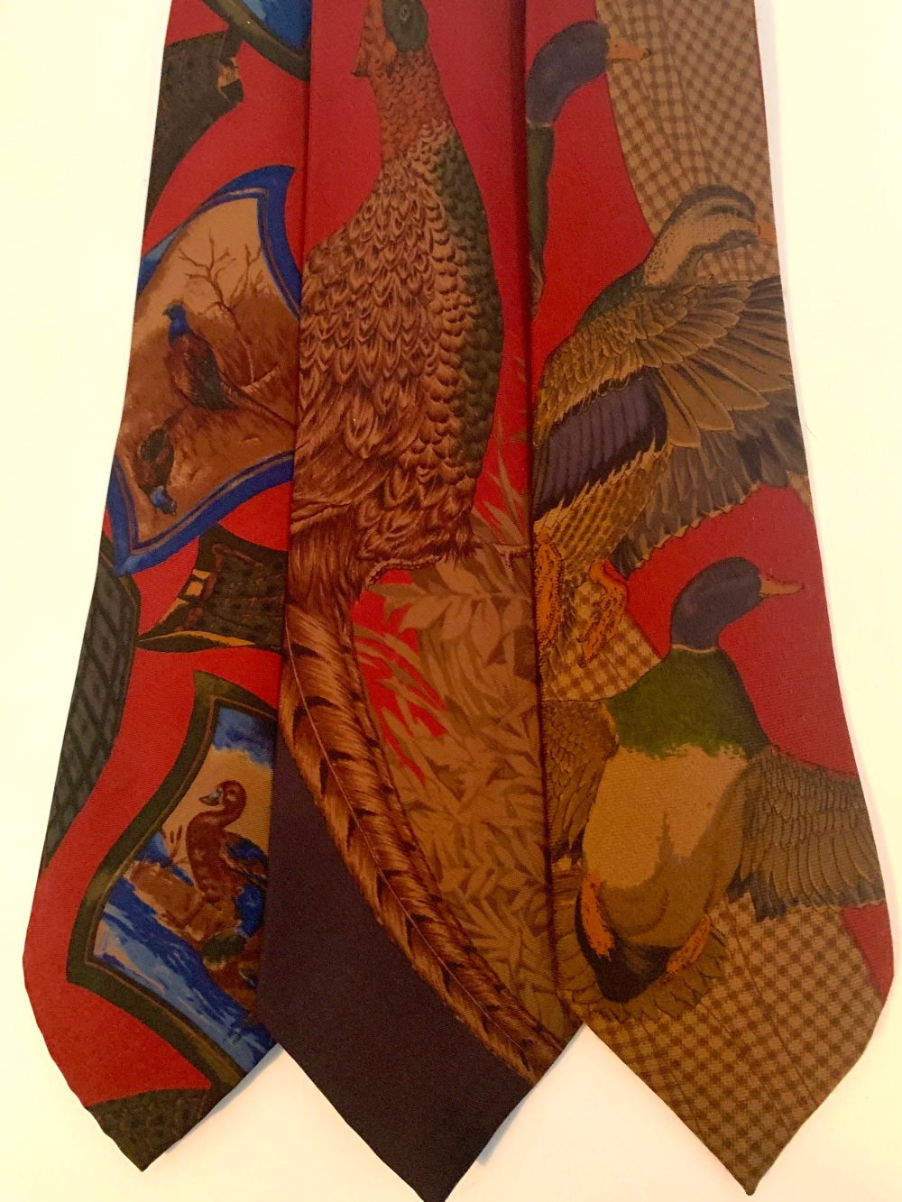 Assortment of Bird Themed Vintage RL Ties