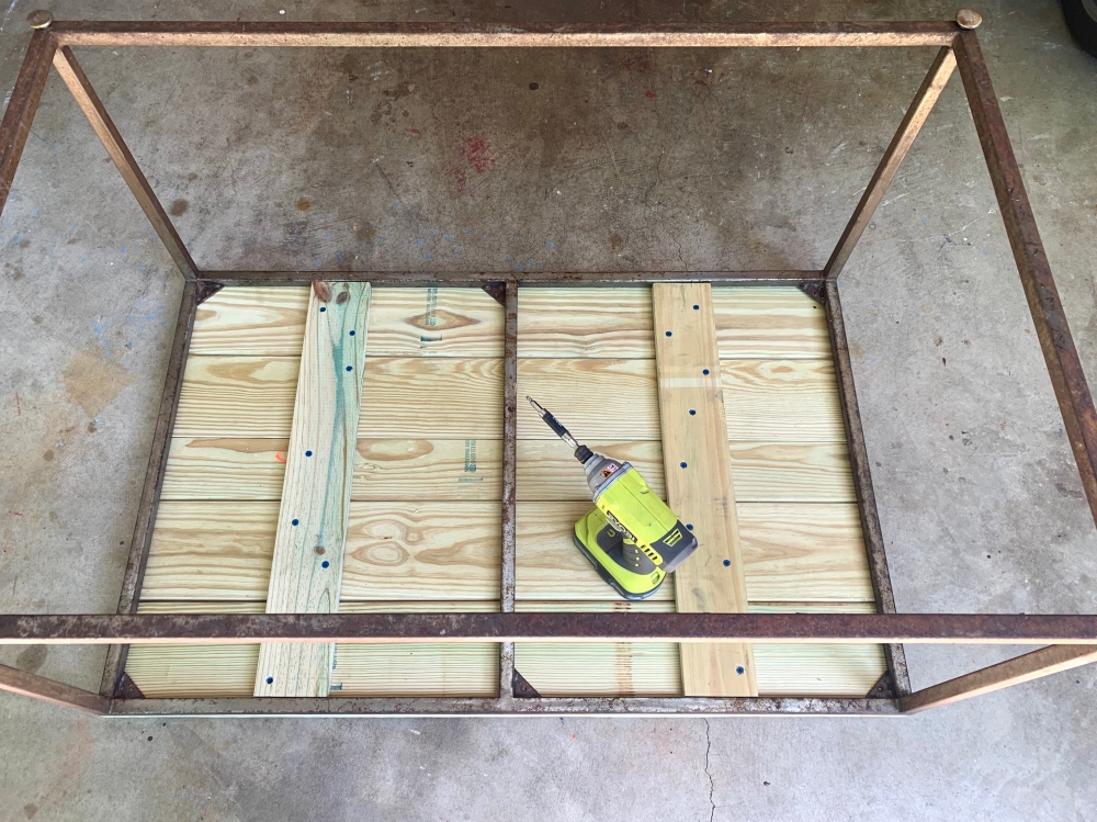 Attach the Wood Top From Underneath