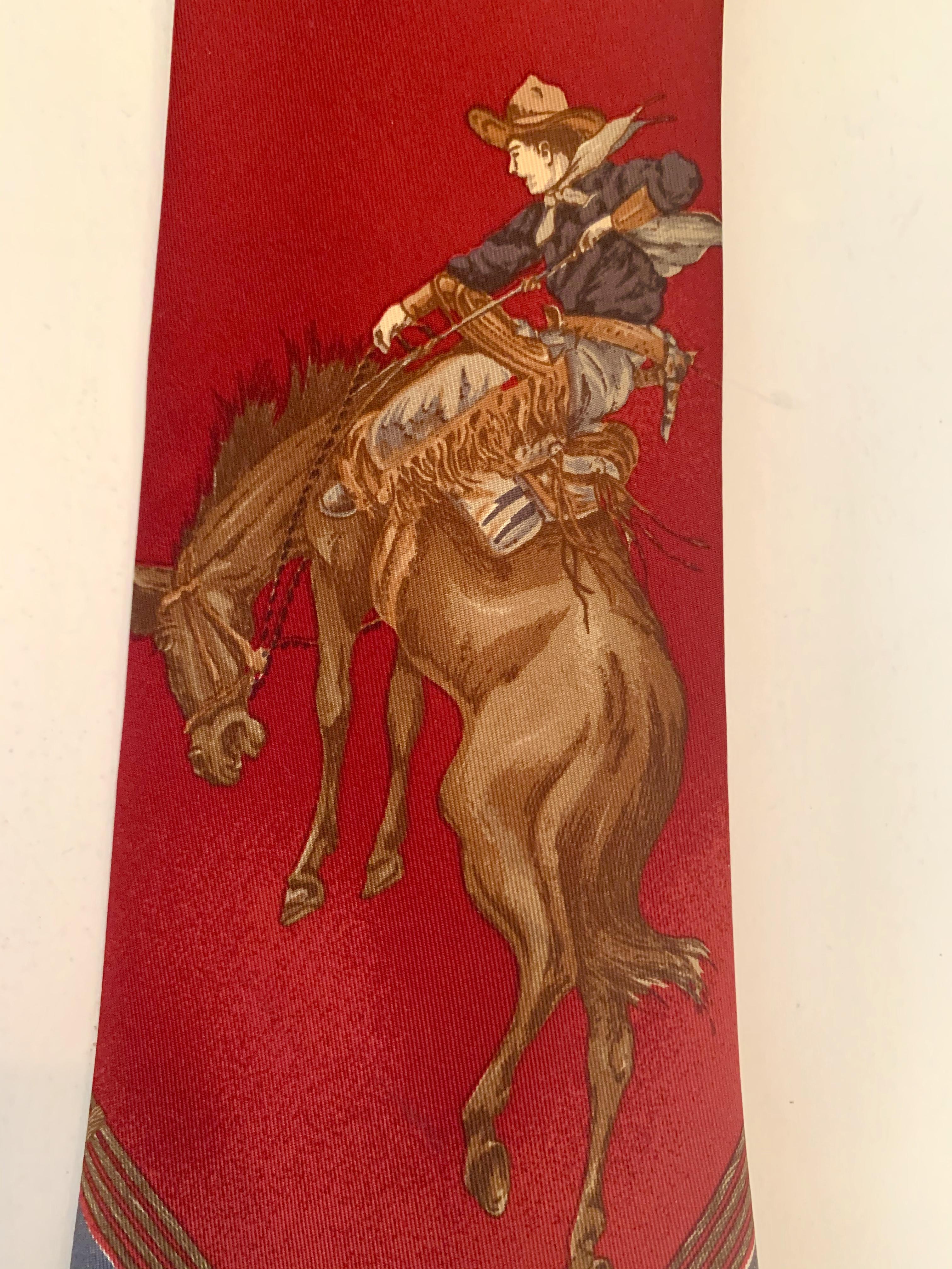 Bronc Buster on Vintage Ralph Lauren Tie