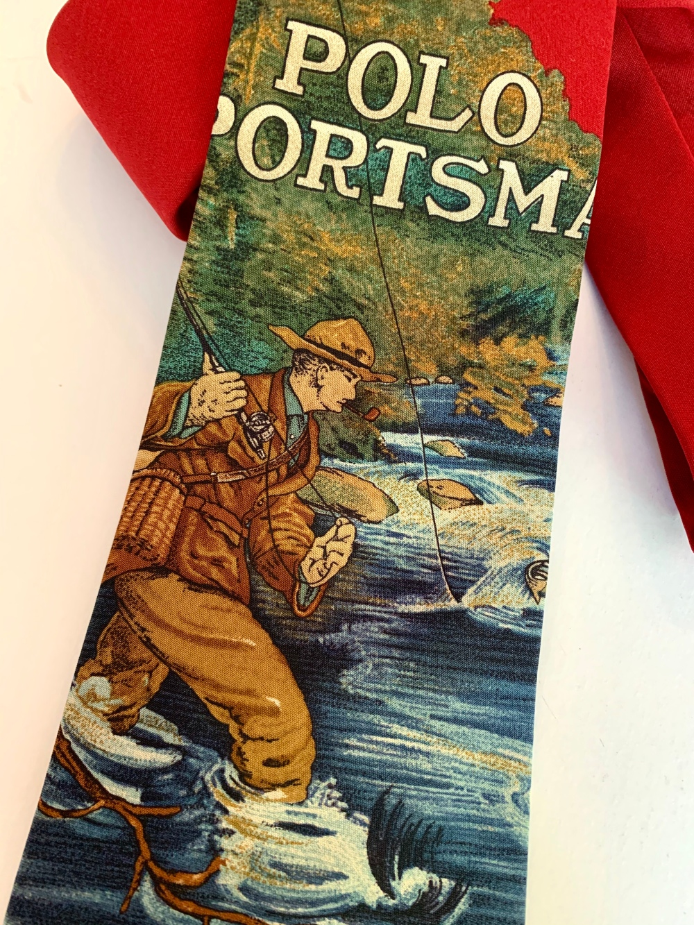 Field and Stream Magazine Cover on Vintage Polo Tie