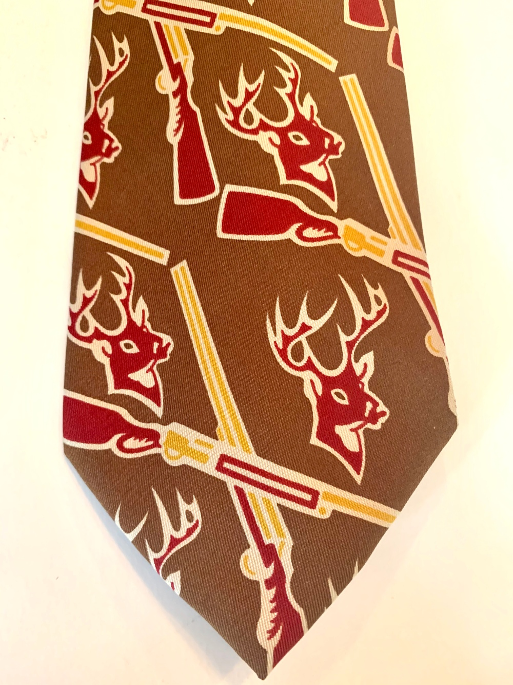 Guns and Bucks on a Vintage Ralph Lauren Converstional Tie