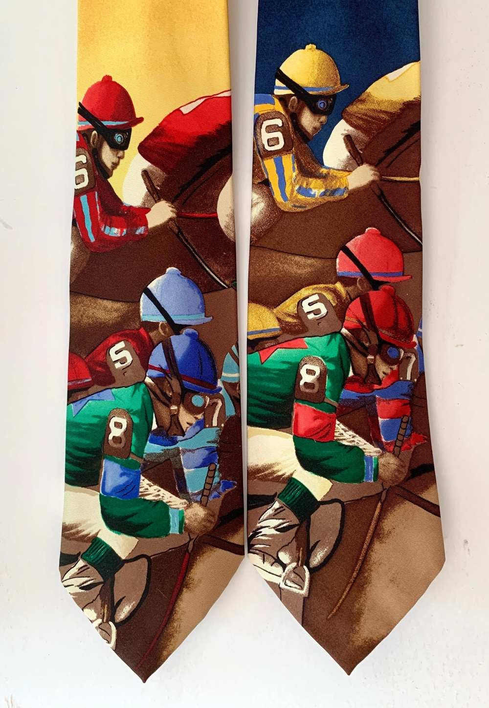 Jockeys Racing Across Old Polo Tie