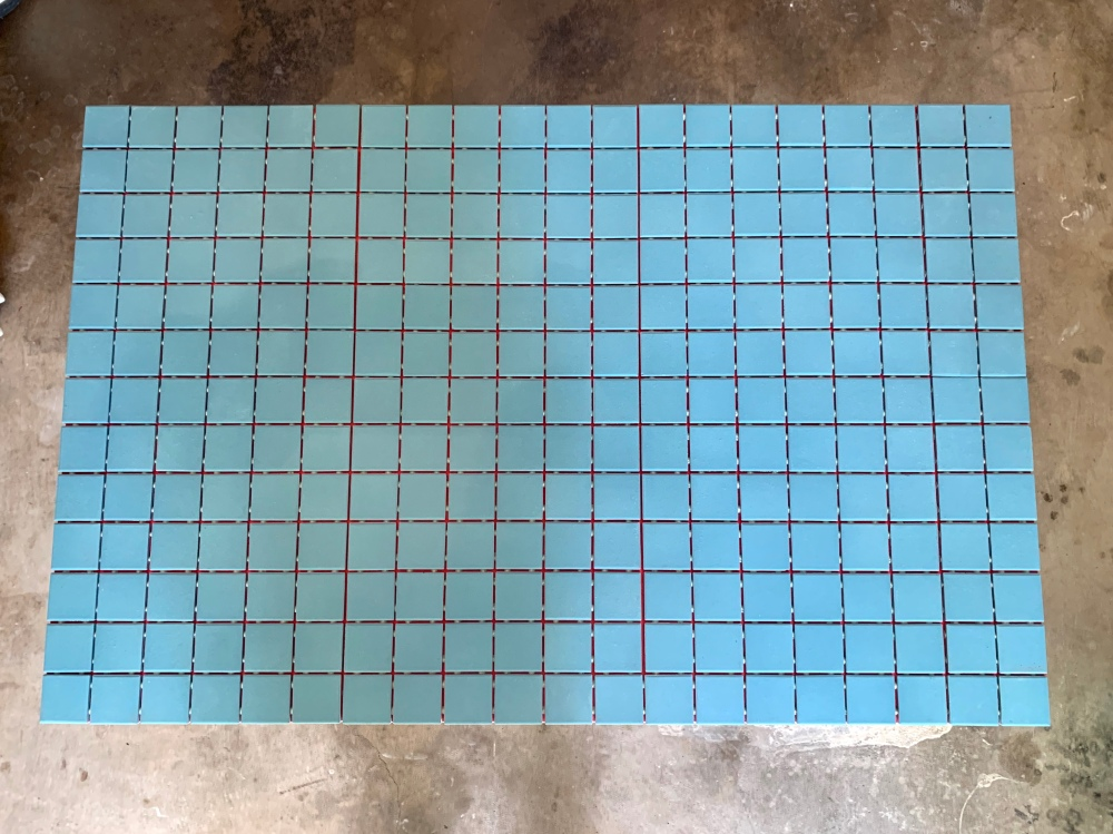 Turquoise Tile on Top