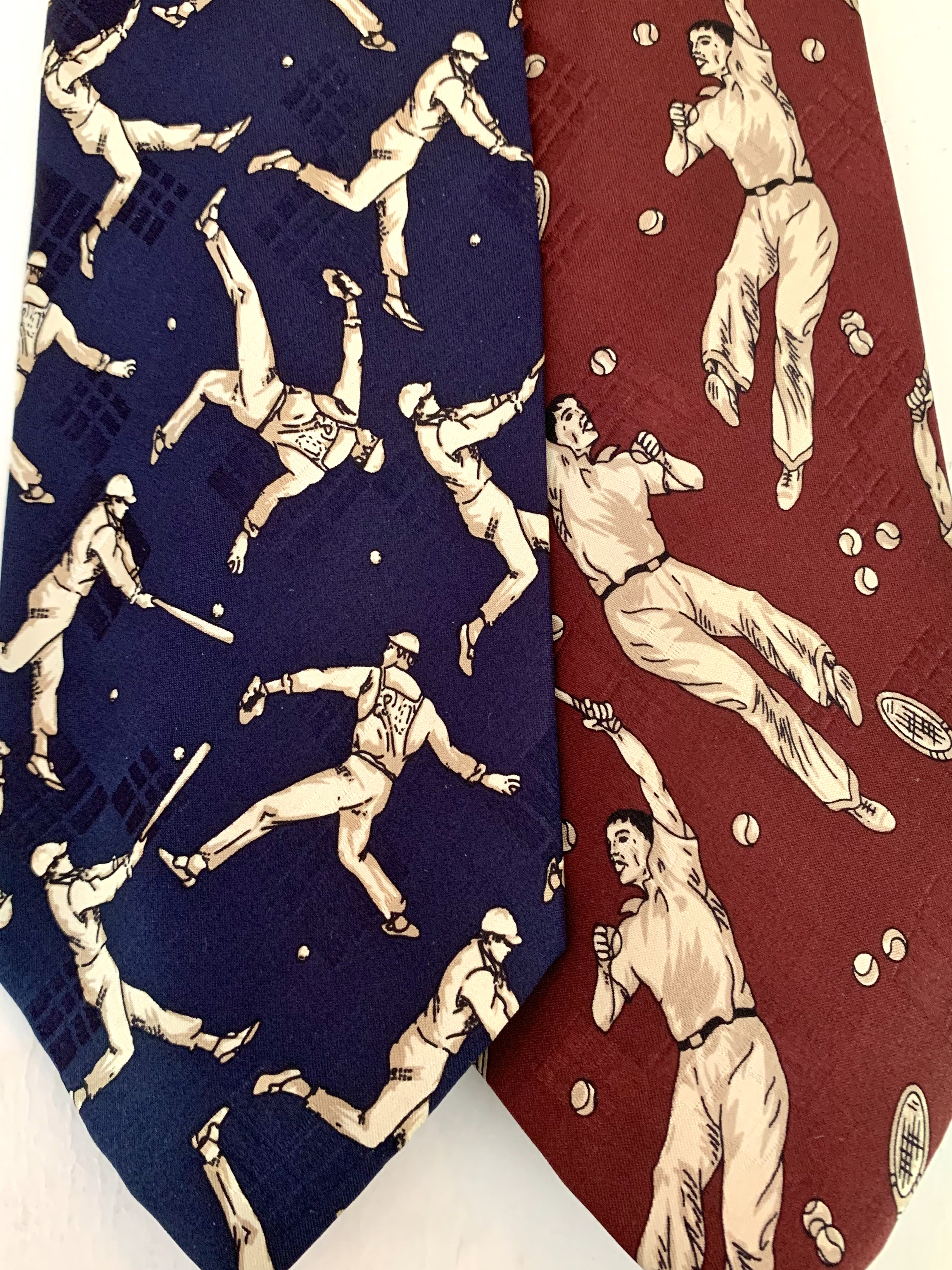 Vintage Sports Players on Vintage Polo Tie