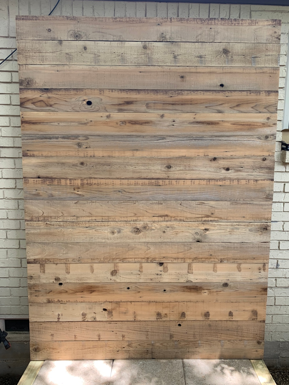 Back Wall of Tool Shed with Reclaimed Cedar