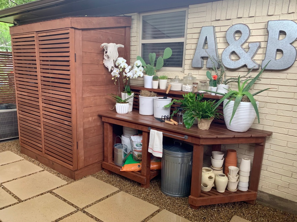New Tool Shed and Potting Bench Perfection