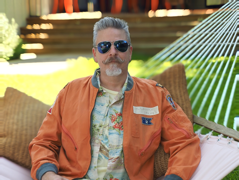 Orange Reversible Flight Jacket
